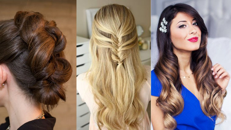 7 Glamorous Christmas and New Year's Eve Hairstyles