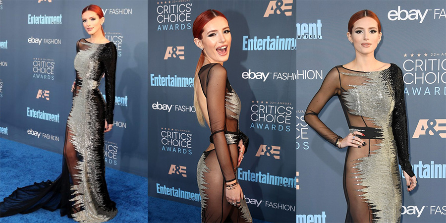 Bella Thorne Wore The Sexiest Dress at the Critics' Choice Awards